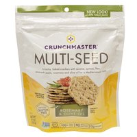 Crunch master Crackers, Rosemary & Olive Oil, 4 Ounce