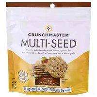 Crunchmaster Multi-Seed Crackers Cheesy Garlic Brd, 4 Ounce