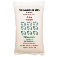 9 Elephants Thai Jasmine Rice, 20 Pound