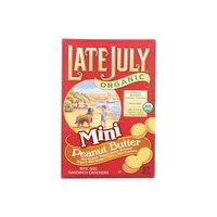 Late July Organic Mini Crackers, Peanut Butter, 5 Ounce