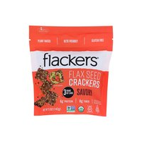 Doctor In The Kitchen Flackers Crackers, Flax Seed, 5 Ounce
