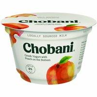 Chobani Greek Non-Fat Yogurt, Peach , 5.3 Ounce