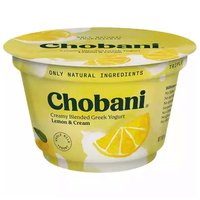 Chobani Greek Yogurt, Lemon, 5.3 Ounce