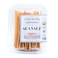 Firehook Organic Mediterranean Baked Crackers, Sea Salt, 5.5 Ounce