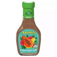 Annie's Organic Salad Dressing, Papaya Poppy Seed, 8 Ounce
