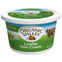 Organic Valley Low-fat Sour Cream, 16 Ounce