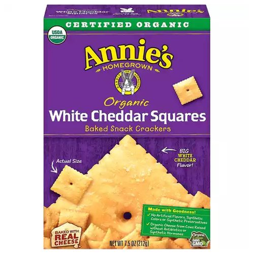 <ul> <li>USDA Organic</li> <li>Made with Goodness</li> <li>No Artificial Flavors or Synthetic Colors or Preservatives</li> <li>Organic Cheese from Cows Raised without Antibiotic or Synthetic Hormones</li> <li>Made with real Cheese</li> <li>Non GMO</li> </ul>