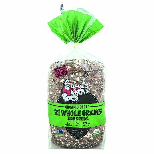 <ul> <li>21 Whole Grains and Seeds</li> <li>5 g Protein</li> <li>5 g Fiber</li> <li>260 mg Ala Omega-3</li> <li>22 g Whole Grains</li> <li>Certified USDA Organic</li> <li> Non GMO Verified.</li> </ul>
