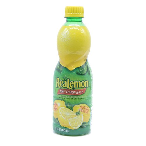 100% lemon juice from concentrate  Great for use in recipes and beverages  Natural Strength  Great alternative to fresh lemons  One 15 fluid ounce bottle