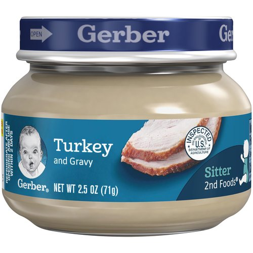 <ul> <li>One (1) 2.5 oz jar</li> <li>7 g of protein per jar</li> <li>Meat and poultry are among the best food sources of Zinc and Iron for babies</li> <li>No artificial flavors</li> <li>Gerber is a leader in infant and early childhood nutrition.  Have questions?  We are awake when you are 24/7: 1-800-284-9488</li> </ul>