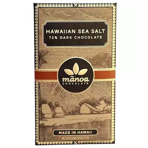 <ul> <li>Hawaiian Sea Salt</li> <li>72% Dark Chocolate</li> <li>Made in Hawaii</li> </ul>