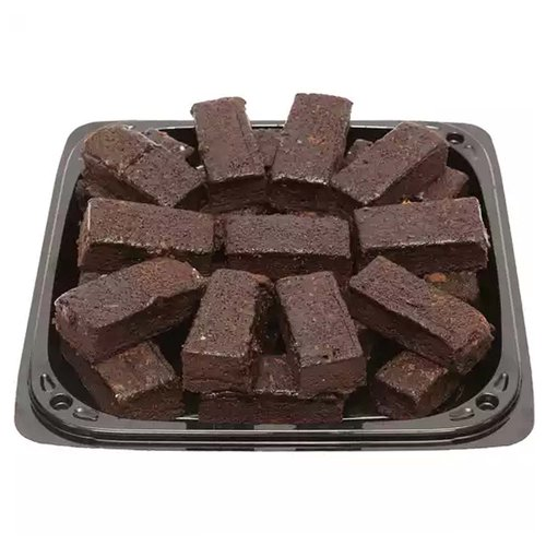 """<br>12"""" platter of 24 brownie squares freshly made to order. Rich chocolate brownies with fudge topping and sprinkles make a perfect snack!</br>  <br>Serves 12-14 people</br>"""