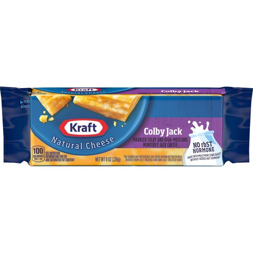 <ul> <li>One 8 oz. package of Kraft Colby Jack Cheese Block</li> <li>Kraft Colby Jack Cheese Block backed by years of cheese-making experience</li> <li>Every batch of Kraft Cheese starts with fresh milk for creamy flavor</li> <li>Say yes to the rich cheese taste you and your family will love</li> <li>Convenient cheese block is perfect for shredding, slicing, or snacking</li> <li>Enhance your next meal with Kraft Colby Jack Cheese Block</li> <li>Easy tear packaging for simple meal prep</li> </ul>