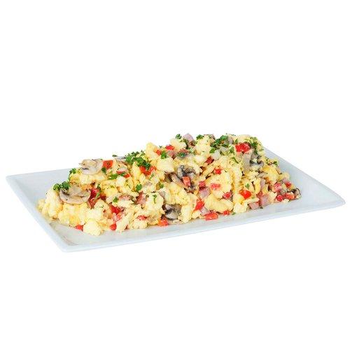 Egg platter with 3lbs of denver scramble eggs.   Serves 6-8