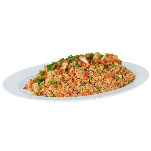 Side dish with 3lbs kim chee fried rice. <br><br>   Serves 6-8