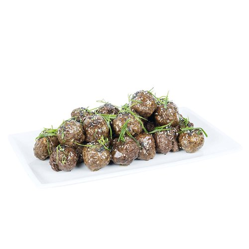 Hand prepared with ground pork, shrimp, ginger, green onions, water chestnut, and kecap manis barbeque sauce.  <br><br> Serves 6-8