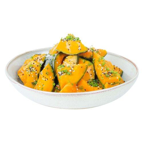 Slow stewed Japanese pumpkin braised in soy dashi broth. <br><br>   Serves 6-8