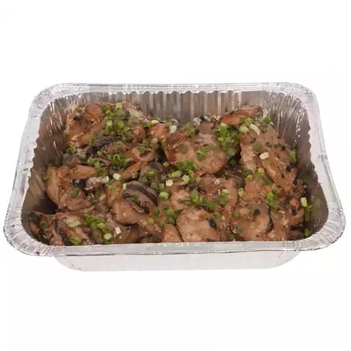 <br>  Pan with 5 lbs of teriyaki chicken.</br>    <br>  Serves 10-12</br>