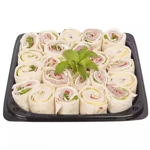 <br>A delicious combination of meats and cheeses with lettuce, tomatoes and onions rolled in thick slices of avosh bread. This platter is a beautiful addition to any party table!</br> <br></br> <ul> <li>Serves 6-8 people </li> <li>23 pieces (3 lbs)</li> </ul>