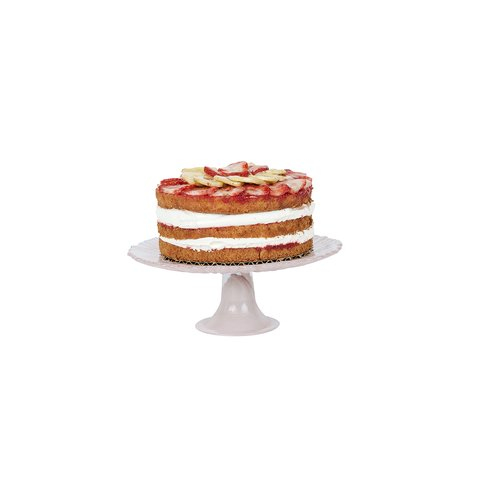 """6"""" strawberry cake with strawberry banan filing and whipped cream. <br><br>   Serves 6-8"""