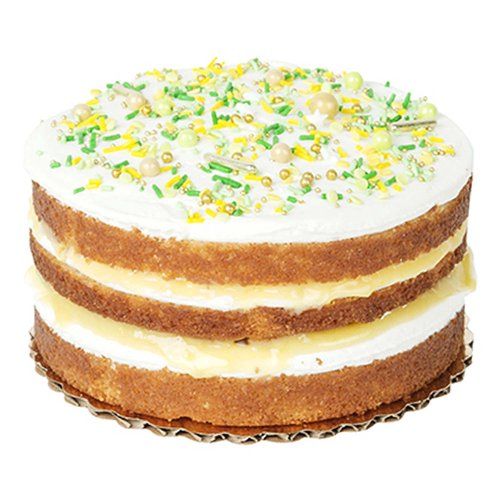 """6"""" lilikoi cake with lilikoi curd, whipped cream and caramel bites. <br><br>   Serves 6-8"""