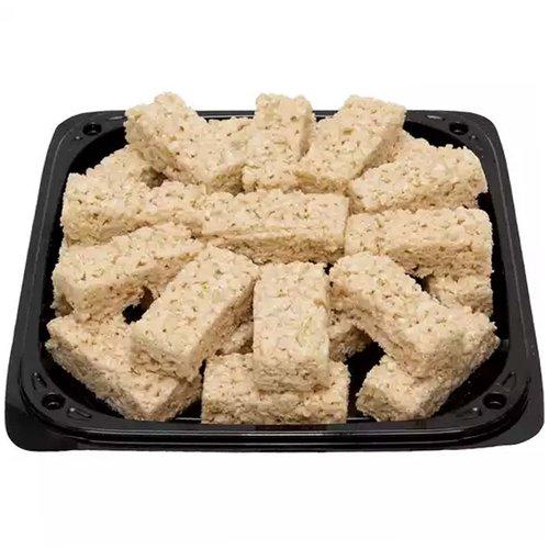 """<br>12"""" platter of rice krispies bars.  </br>  <br>Serves 12-14</br>"""