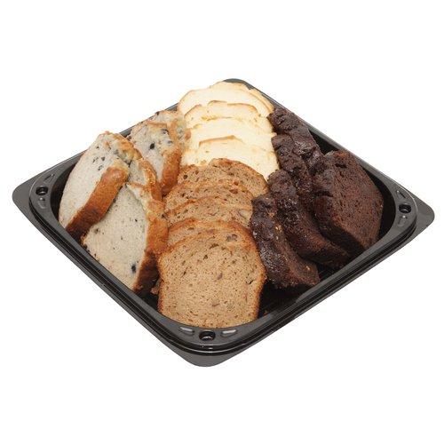 <br>20 loaf cakes with assorted varieties:</br> <br> <ul> <li> Butter</li> <li> Chocolate</li> <li> Blueberry</li> <li> Marble</li> </ul> </br>