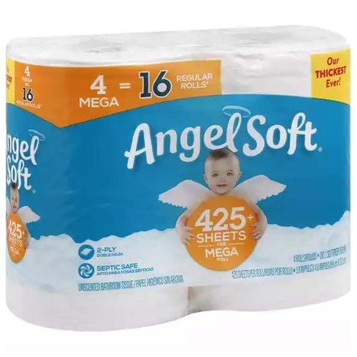 Angel Soft 4ct Mega Roll, 4 Each