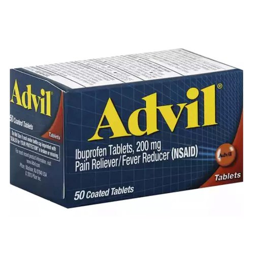 Whether you have a headache, muscle aches, backaches, menstrual pain, minor arthritis or aches and pains from the common cold, nothing's stronger on tough pain than Advil.  The medicine in Advil is #1 pharmacist recommended for pain relief.  The pain reliever in Advil Coated Tablets is Ibuprofen, a non-steroidal anti-inflammatory drug (NSAID) that when taken as directed is a safe and effective pain reliever and fever reducer.  No other OTC pain reliever has been proven to work faster or stronger than Advil.  For over 35 years, people have chosen Advil for safe and quick relief of their acute aches and pains.  Use as directed.  Any medication may cause side effects.  You should not take more than the recommended dose because it will increase the risk of side effects.  To maximize the benefit and reduce risk, it is important to use over-the-counter medicines responsibly according to the label and speak with a doctor or pharmacist if you have any questions.  Please refer to the label for complete warnings and important information.