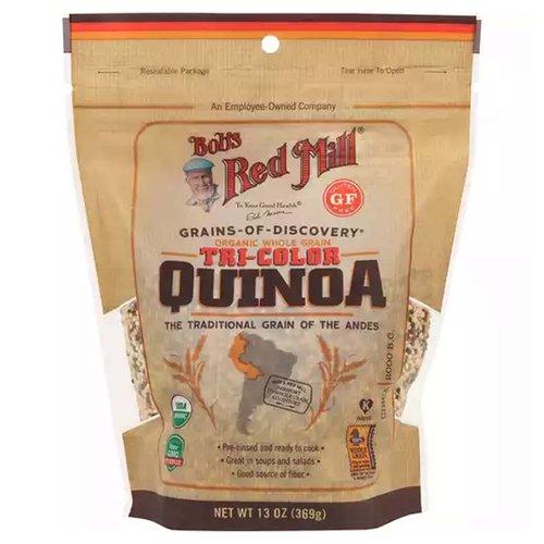 <ul> <li>USDA Organic</li> <li>Non GMO Verified</li> <li>Gluten Free</li> <li>The Traditional Grain of the Andes</li> <li>Pre-rinsed and ready to cook</li> <li>Great in soups and salads</li> <li>Good source of Fiber</li> </ul>