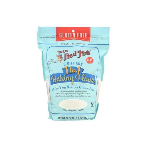 <ul> <li>Bob's Red Mill 1 to 1 Baking Flour</li> <li>Gluten Free</li> </ul>
