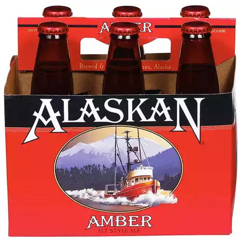 Alaskan Amber Ale, Bottles (Pack of 6), 12 Ounce