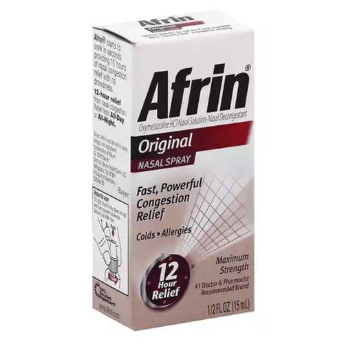 <ul> <li>Fast, Powerful Congestion Relief</li> <li>12 Hour Relief</li><li>Colds. Allergies.</li> <li>Maximum Strength</li> <li>#1 Doctor & Pharmacist Recommended Brand</li> <li>Oxymetazoline HCI Nasal Solution-Nasal Decongestant</li> </ul>