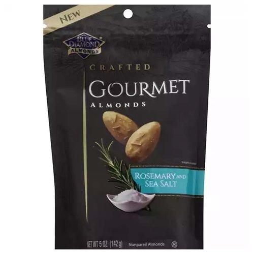 Blue Diamond Gourmet Almonds, Rosemary & Sea Salt, 5 Ounce