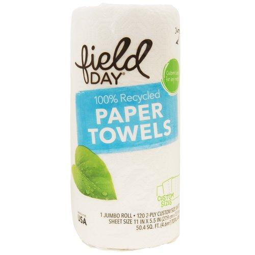<ul> <li>100% Recycled Paper Towel</li> <li>120 2-Ply Custom Size Sheets</li> <li>Made in the USA</li> </ul>
