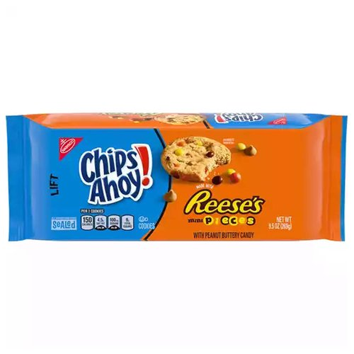 Chips Ahoy! Reeses Pieces, 9.5 Ounce
