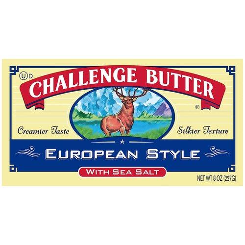 <ul> <li>European Style Butter</li> <li>Creamier Taste</li> <li>Silkier Texture</li> <li>Award Winning</li> <li>Real Challenge. Real Difference.</li> <li>First Quality</li> </ul>