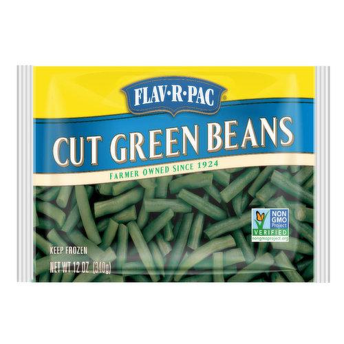 Flav R Pac Cut Green Beans, 12 Ounce