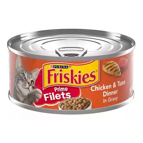 Real chicken and tuna deliver the tastes cats love  Tender, shredded chunks deliver a tempting texture  Savory gravy adds flavor and moisture  100% complete and balanced for kittens and adult cats  Contains essential vitamins and minerals  Enticing aroma tempts her to her dish  Packaged in recyclable cans