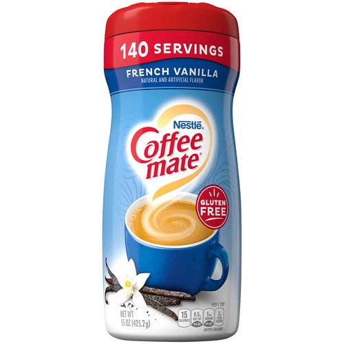 <ul> <li>Coffee mate French Vanilla Powdered Creamer is delicious vanilla perfection, and at 15 ounces, it's coffee's perfect mate</li> <li>Stir in the delicious, indulgent taste anytime for a warm, rich classic cup that's non-dairy, lactose-free, and gluten-free</li> <li>Whether you're sharing with a friend or taking a moment to recharge, Coffee mate French Vanilla is the perfect way to wake up your cup</li> <li>Scoop and stir to find the right amount of flavor to suit your taste and transform your coffee into flavorful deliciousness</li> <li>Think outside of the cup and add the delicious flavors of Coffee mate creamers to recipes to create unique deliciousness that everyone will love</li> </ul>