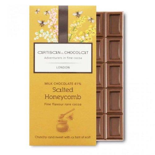 Artisan du Chocolat Salted Honeycomb 41% Milk Chocolate, 45 Gram