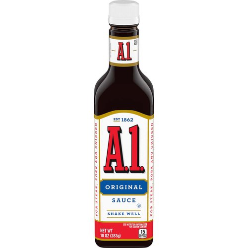 <ul> <li>Made with a mouthwatering blend of tomatoes, garlic, crushed oranges and an intricate mix of spices</li> <li>One 10 oz. bottle of A.1. Original Steak Sauce</li> <li>A.1. Original Steak Sauce delivers bold flavor to your favorite dishes</li> <li>Classic sauce pairs well with steak, chicken, beef or pork</li> <li>Pour sauce over meat, or use as a dipping sauce</li> <li>Create tasty pork chops, grilled steak or chicken wings</li> <li>Resealable bottle to help lock in flavor</li> </ul>