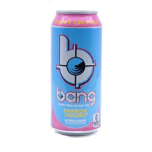 Bang is not your typical sugar-filled soda masquerading as an energy drink.  Every 16-ounce can of Bang contains 300 milligrams of caffeine, which studies have shown may increase endurance, as well as strength in some cases, along with essential amino acids, CoQ10 and Super Creatine.  Super Creatine, which is the brainchild of Bang CEO, Jack Owoc, is a dipeptide of creatine and L-leucine (creatyl-L-leucine), which, unlike other forms of creatine, is stable in liquid for an extended period.