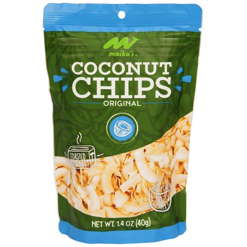 Our Maika`i Coconut Chips are toasted to perfection, resulting in a crunchy, nutty taste. Not overly coconutty, it'll appeal to those who thought they didn't like coconut.  Light and easy to pack, it's also a great pick-me-up snack option when going to the beach or on a hike, as it won't weigh you down.  Pair a bag of our Maika`i Coconut Chips with a box of our exclusive Coconut Bites to create a fun, locally-inspired gift to take back to friends and family on the mainland or abroad. Light and easy to pack, it'll keep your luggage within the 50 lb. limit!