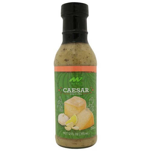 """Caesar Dressing – Our version of the """"Classic"""" with garlic and parmesan cheese. Lightly drizzle into a bowl of fresh, chopped Romaine lettuce, add crusty garlic croutons and extra, shredded parmesan cheese, fresh ground black pepper and toss!"""