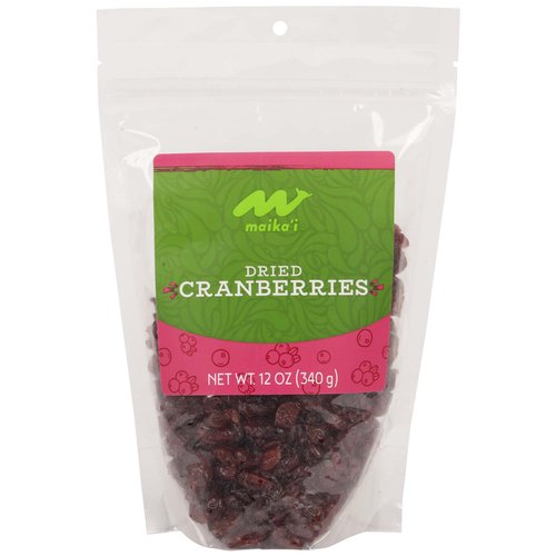 Dried Cranberries – Our Maika'i Dried Cranberries are a versatile super food.  Not only are our cranberries moist and plump and great eaten as a standalone treat, they are wonderful in salads, baked goods, and even Thanksgiving stuffing!  Product of USA.
