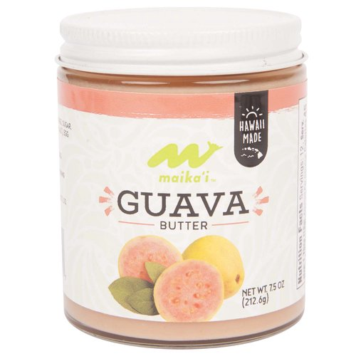 Guava Butter – Made with Guava puree, our Maika'i Guava Butter is a sweet, creamy spread for toasts, English Muffins, pancakes or just plain. It's as if Guava Jam and creamy, pure butter were married with the benefits of both in one jar.