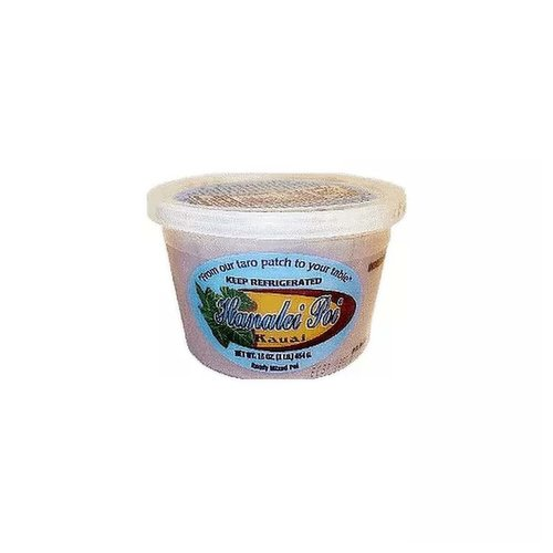 <ul> <li>From our Taro Patch to your table</li> <li>Keep Refrigerated</li> <li>Kauai Hanalei Poi</li> <li>Ready Mixed Poi</li> </ul>