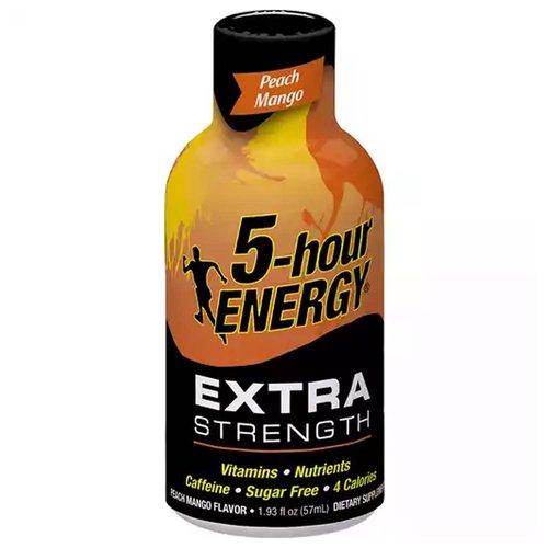 5-Hour Energy Shot, Extra Strength, Peach Mango, 1.93 Ounce