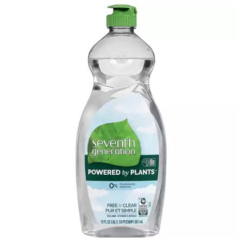 7th Gen Dish Soap Free & Clear, 19 Ounce
